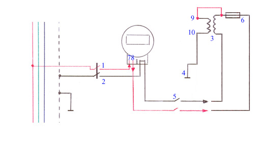 Электронный схема отмотки
